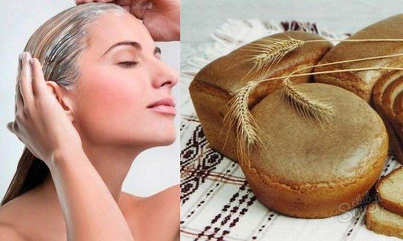 Маски из ржаного хлеба от выпадения волос