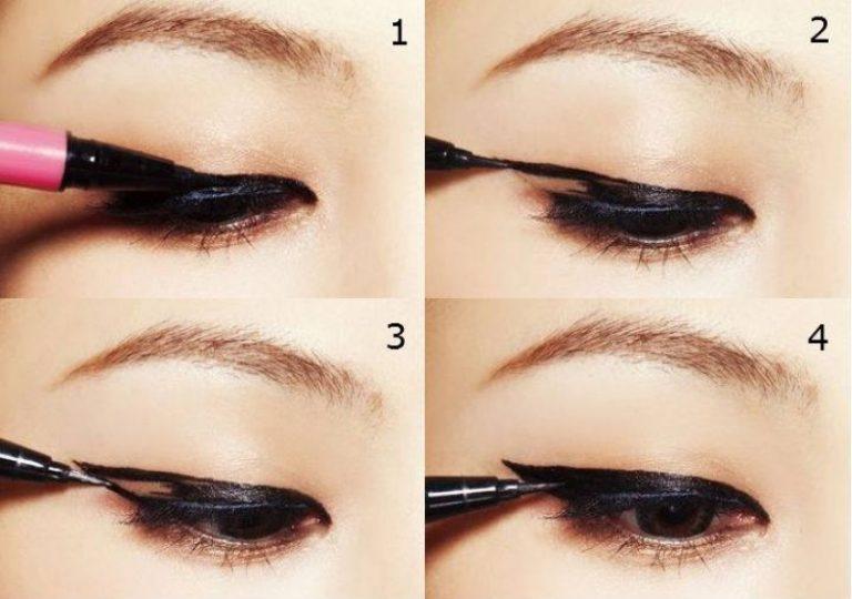Как красить фломастером глаза