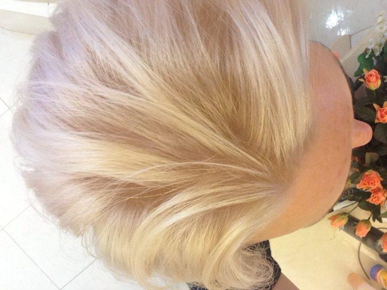 Блонд в домашних условиях без желтизны