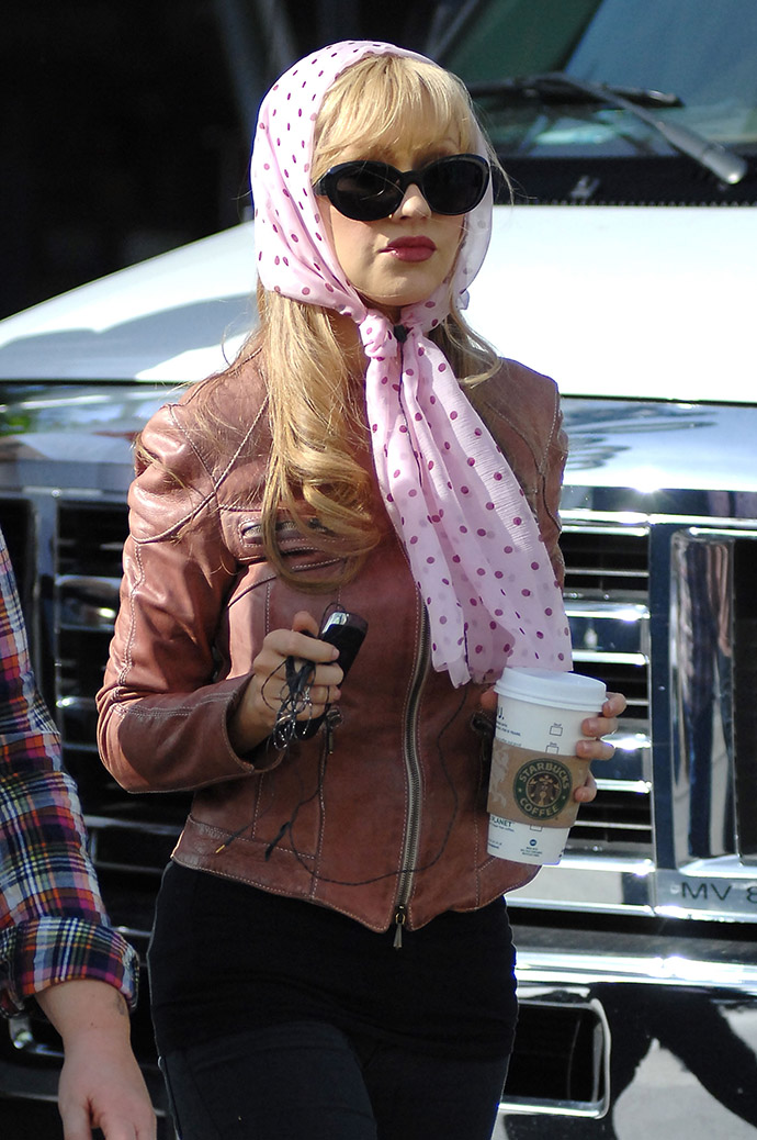 """WEST HOLLYWOOD, CA - JANUARY 11: Christina Aguilera is seen on the set of """"Burlesque"""" on January 11, 2010 in West Hollywood, California. (Photo by Chris Wolf/FilmMagic)"""